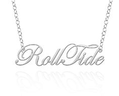 Sterling Silver Roll Tide Necklace