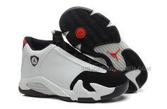 "new style 26ce2 4b885 Girls Air Jordan 14 Retro GS ""Black Toe"" White Black-Varsity- Red"