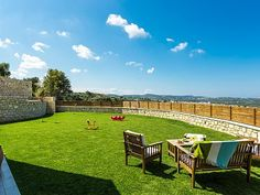 Rethymno villa rental - Villa Georgios-Stunning countryside views.
