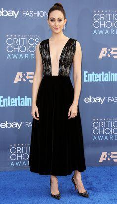 Critics Choice Awards 2016 Best Dressed Stars - Emmy Possum in Armani