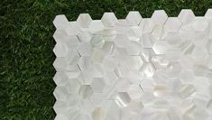 White Groutless Hexagon Mother of Pearl Mosaic Tile For Bathroom Tile Kitchen Tile Shower Tile Wall Tile Fireplace Remodel, Fireplace Wall, Niche Decor, Room Decor, Wall Decor, Mosaic Tiles, Wall Tiles, Groutless Tile, Tile Shower Niche