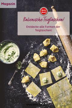 Ravioli, Tortellini, Triangoli, Agnolotti: Wir alle lieben die feinen italienischen Teigtaschen, gefüllt mit Fleisch, Fisch, Geflügel oder frischem Gemüse und mit einer Salsa ganz nach unserem Gusto! Teigtaschen in verschiedenen Grössen und Formen findet man jedoch nicht nur in Italien, sondern auf der ganzen Welt. Agnolotti, Hand Pies, Tortellini, Ravioli, Salsa, Cheese, Food, Stuffed Pasta, Meat