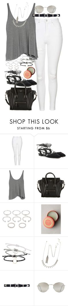 """Untitled #203"" by simonakolevaa ❤ liked on Polyvore featuring Topshop, Yves Saint Laurent, T By Alexander Wang, CÉLINE, Forever 21 and Mor"