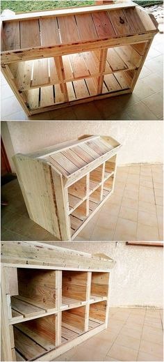 Check out with this unique media table idea that would add a beauty impact in your house living room area. This furniture creation has been stroked with the media accessory arrangement that is much simple and plain looking in appearance. It is all completed with the settlement of the planks in vertical positioning.