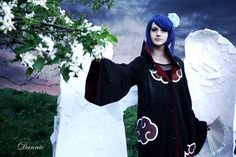 I absolutely love the blue wig I'll upload more photos later by Dannie (me ) Akatsuki- Konan cosplay Akatsuki Cosplay, Naruto Cosplay, Anime Cosplay, Konan Cosplay, Best Cosplay, Cosplay Girls, Disney Cosplay, Blue Wig, Anime Costumes