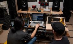 Machine love: Dadub's studio