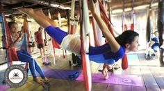 Going to give aerial yoga a try today...#benefits