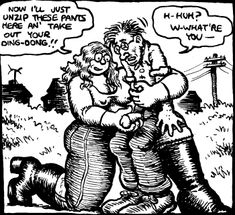 Panel from R.Crumb versus the Sisterhood, R. Crumb, 1973