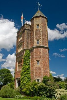 Sissinghurst Castle, home of British writer Vita Sackville-West and her husband, Harold Nicolson.  She planted one of the world's most beautiful gardens here.
