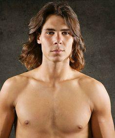 Rafael Nadal - long hair and no shirt