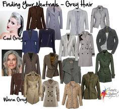 """Finding Your Neutrals - Grey Hair"" by imogenl on Polyvore"