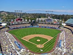 "Dodger Stadium Los Angeles Dodgers Paper Poster (24""x36"")"