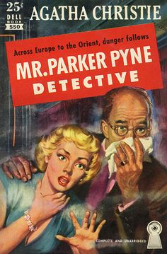 Parker Pyne Investigates by Agatha Christie. Golden Age British crime fiction, US paperback edition book cover.