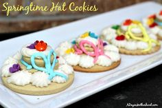 Springtime Hat Cookies #SweetSwaps #ad
