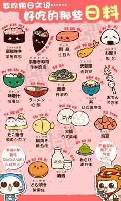 Learn Japanese food names! I especially adore the angry takoyaki