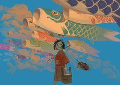 Painting Inspiration, Art Inspo, Character Illustration, Illustration Art, Illustrations, Japanese Drawings, Anime Fantasy, Environmental Art, Fantastic Art