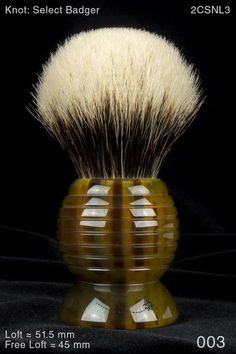 The Paladin™ Beehive handle-design is our novel take on an old theme. Several makers have produced beehive-shaped shaving-brush handles. We were primarily influenced by a Rooney version. The beehive's complex geometry posed a steep challenge for us as self-taught, designer-programmer-makers running CNC lathes. We're hi