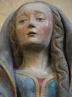 Mary Magdalene Vierge de Pitié (stone polychrome, 1476) Abbatiale St-Pierre de Moissac.