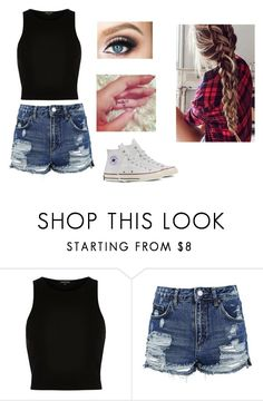 """""""Untitled #282"""" by martinez-shell ❤ liked on Polyvore featuring beauty, River Island, Topshop and Converse"""