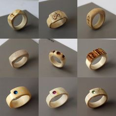 Rings. Hand carved out of real naturally shed antler. http://ift.tt/2hT8nh8 . how to make your own #crafts follow @cutephonecases