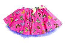 Φορέματα - Ρούχα Για Κορίτσια Για Πάρτι - Εκδύλωση :: Jelly Bean Kids Collection 2014 :: Jelly Bean Kids Εντιπωσιακή Καλοκαιρινή Φούστα με Εμπριμέ Πεταλούδων - MEMOIRS Νυφικά και Γυναικεία Φορέματα