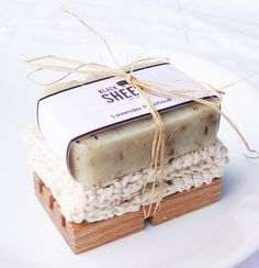 This Soap Gift Set is simply the perfect gift. It comes with any bar out of my shop that you'd like, and a handmade wooden soap. It also comes with a hand crocheted cotton fiber Handmade Soap Packaging, Handmade Soaps, Handmade Wooden, Packaging Ideas, Soap Gifts, Soap Packing, Soap Labels, Soap Display, Soap Shop