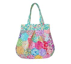 Liberty Fabric Hexagon Patchwork Anna Bag Pattern INSTANT DOWNLOAD by Alicecarolinesupply on Etsy