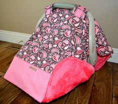 Western Cowgirl Carseat Canopy Cover Minky by CountryCozyByRB