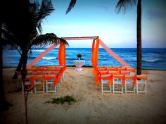 At this location on the resort you can have a bonfire wedding reception.