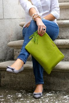 darling shoes and clutch, great basics with classic jewelry