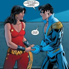Donna Troy and Nightwing