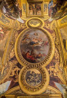 Plafond Salon de Vénus, Château de  Versailles.