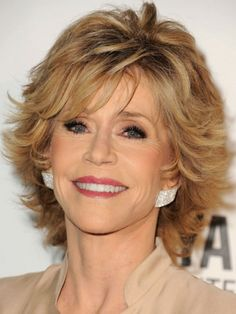Short Shaggy for Women Over 50 with Thick Hair