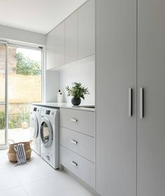 A laundry makeover that's practical, functional AND beautiful What a transformation! We chat to Jane Ledger Interiors about how this laundry makeover became both functional and beautiful. Laundry Decor, Laundry Room Organization, Laundry Room Design, Laundry In Bathroom, Laundry Closet, Laundry In Kitchen, Pantry Laundry Room, Laundry Cabinets, Laundry Storage