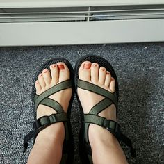 Green Chacos! Great condition, hardly been worn Chacos! Forest green straps. These shoes hug your feet. Seriously. I have another pair that I wear and I can't stand that these just sit. Someone needs to take them on an adventure! Shoes Sandals