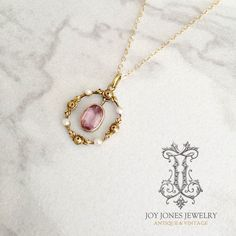 Antique gold, pearl and amethyst pendant from Sweden
