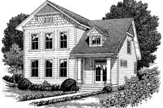 Colonial Exterior - Front Elevation Plan #453-339 - Houseplans.com