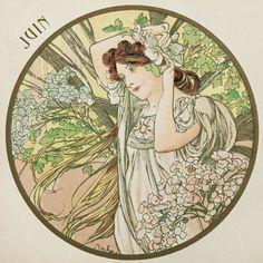 womeninarthistory:  June Illustration, Alphonse Marie Mucha