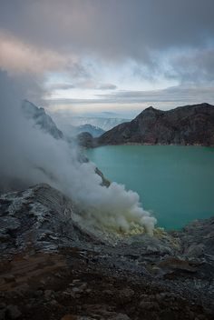 Sunrise over the smoking Crater by Pronche, via Flickr