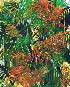 Fronds 3 // Allison Holdridge #tropical #palm #print