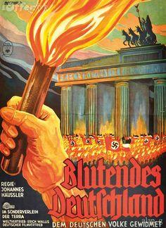 """Propaganda Film, Johannes Häussler,  """"Blutendes Deutschland"""" , 1933."""