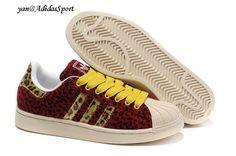 san francisco 81c2c d8955 Adidas Superstar II Mujeres Leopard Zapatillas Rojo Amarillo Beige Baratas  2014 Zapatillas Adidas Superstar
