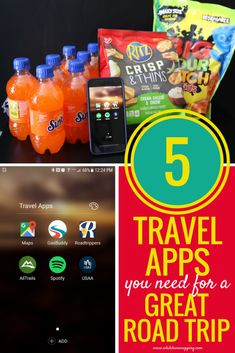 5 travel apps for the best road trip ever! Find awesome sights to see, know the best routes and get traffic information, or plan your next gas stop all in the palm of your hand. If you like to hike, there's the perfect app to help you find just the right one for you and your family.  #familytravel #traveladventures #travelapps #summertravel #travelplans