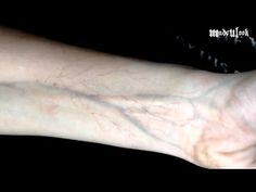 A cool tutorial that shows how to draw veins on your skin. #Halloween #MadeYewLook #SpecialEffectsMakeup