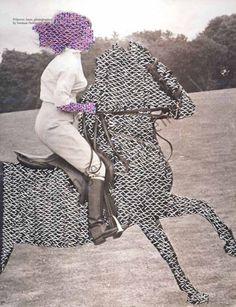 Embroidery and Collage. Mixed Media Textile Art, Textile artist Artist Study inge jacobsen: , Resources for Art Students , Art School Portfolio Works Textiles, Embroidery Designs, John Baldessari, Stitch Magazine, Contemporary Embroidery, Modern Embroidery, Embroidery Art, Vogue Covers, Textile Artists