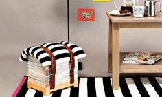 magazine footrest- love this idea!