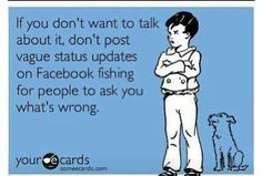 One of my many facebook pet peeves and one of many reasons I'm no longer on FB.