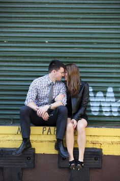 Megan and Jim by Ciras Photography #engagement #nyc