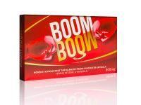 Boom Boom potencianövelő  Együttlét előtt 45-60 perccel 1 darab kapszulát kell bevenni bő alkoholmentes folyadékkal. Az alkohol csökkenti a Boom Boom hatását. Az ajánlott adagolást semmiképpen se lépje túl: 3 naponta javasolt egy kapszulát fogyasztani. Magas vérnyomás, szívpanaszok, rossz közérzet esetén mellőzze a termék szedését. Nem javasolt a bevétele 18 év es kor alatt. Gyógyszeres kezelés, vagy krónikus betegség esetén a használat előtt konzultáljon orvosával.