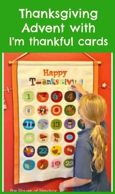 "Use these free printables for this advent each day in November.  ""I'm Thankful for"" cultivate a heart of gratitude. On Thanksgiving, read them. Read how this prepares our hearts for the busyness of Christmas. Great Thanksgiving activity / craft"